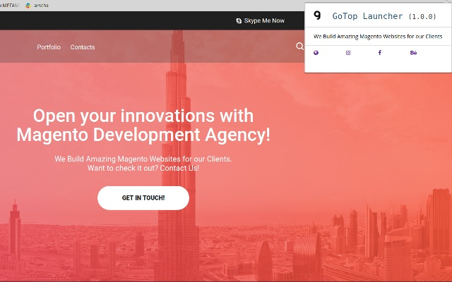 Magento Development Company GoTop Launcher