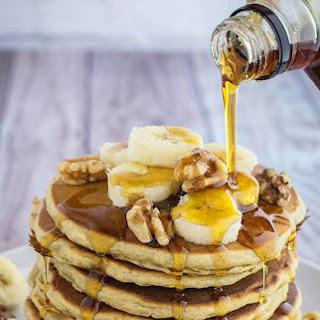 Banana Oatmeal Pancakes.