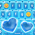 Neon Blue Keyboard with Emojis icon