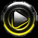Poweramp skin Yellow Glow icon
