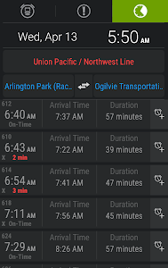 TrainAlert Metra Chicago screenshot 0