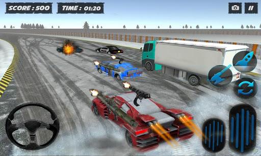 雪のトラフィックカーレースライダー