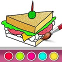 Food Coloring Book with Glitter, Gradient icon