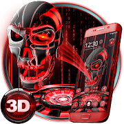 3D Tech Blood Skull Theme