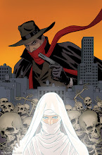 Photo: THE SHADOW #13 Cover. 2013. Ink(ed by Joe Rivera) on bristol board with digital color, 11 × 17″.
