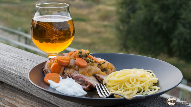 Braised Pilsner Pork Roast with Paprika, Capers and Caraway Recipe