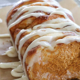 Pumpkin Cream Cheese Pull Apart Bread.