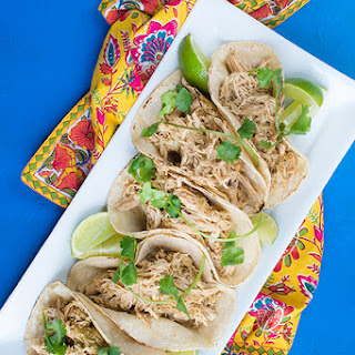Slow Cooker Salsa Verde Chicken Tacos