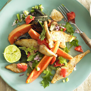 Spicy Fish Salad with Papaya Salsa.