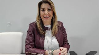 Susana Díaz, presidenta de la Junta de Andalucía y candidata del PSOE-A.