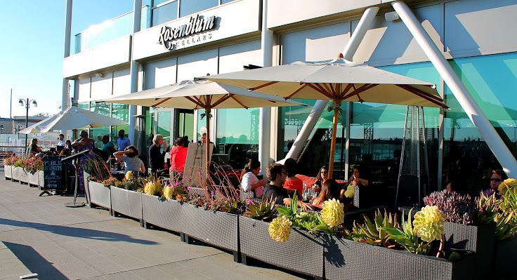The Rosenblum patio.