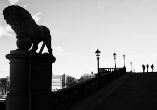 Photo: The Lion Slope at the Royal Palace in Stockholm