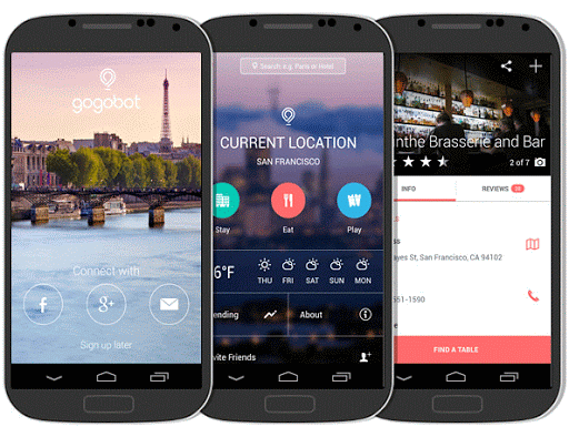 The Gogobot mobile app: Our choice for the No. 1 people-powered city guide.