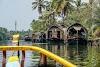 India. Kerala Motorbike Road Trip. Houseboat in Kumarakom Backwaters