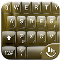Keyboard Theme Glass Gold icon