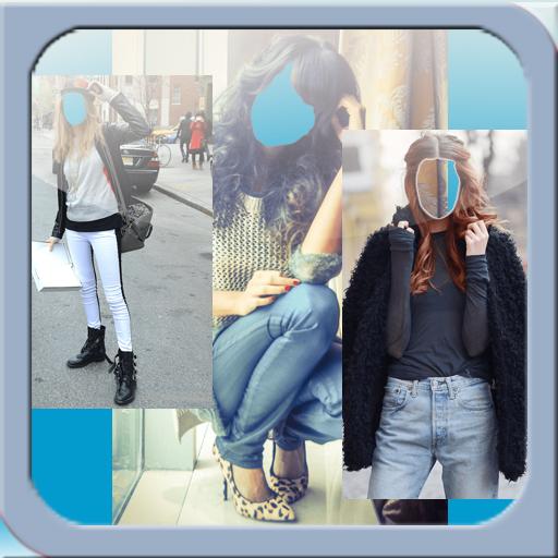 Selfie Girl Jeans Camera Suit