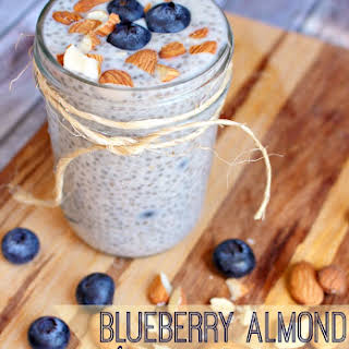 Blueberry Almond Chia Pudding.