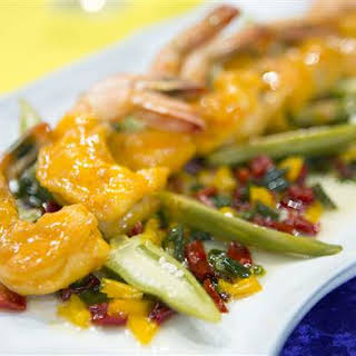 Shrimp and Tasso with Five Pepper Jelly.