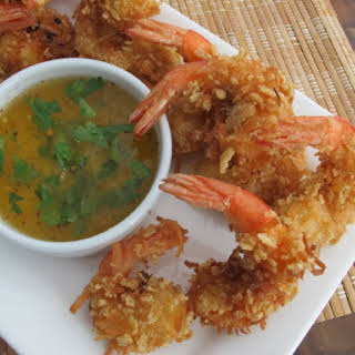 Crispy Rice Chex® Coconut Shrimp (Gluten Free) With Tangy Pineapple-Chili Dip.