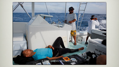 Photo: Sometimes, you get skunked (Tony Wu, during our sailfish trip to Mexico)