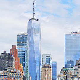 Reflections from WTC by Joatan Berbel - Buildings & Architecture Architectural Detail ( skyscraper, colorful, cityscape, architecture, design )