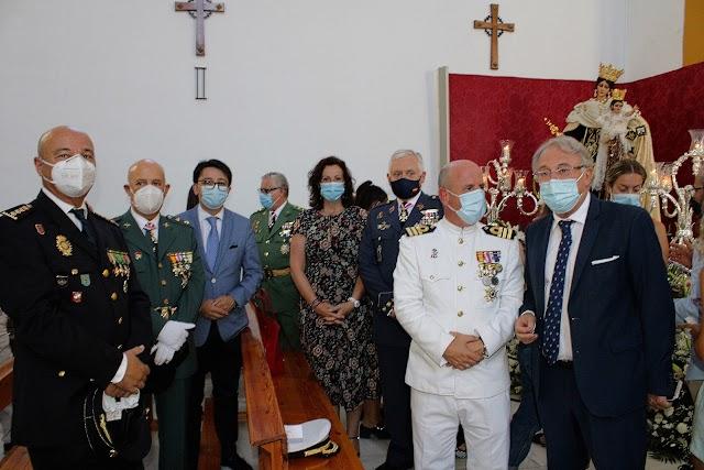 Amplia representación institucional en los actos de la Virgen del Carmen.
