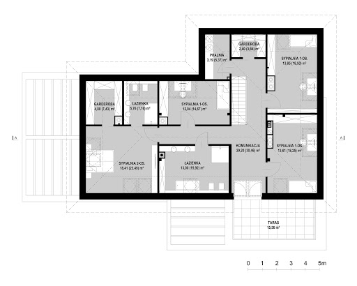 New House 7 - Rzut poddasza