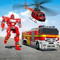 Rescue Robot Car Transform - FireTruck Robot Games icon