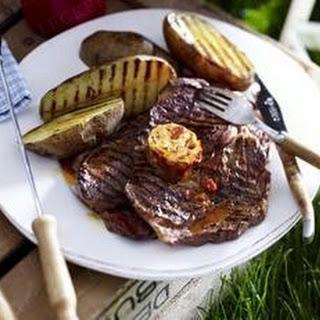 Irish-Coffee-Steaks mit Baked Potatoes