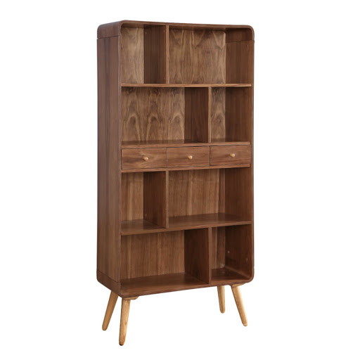 Jual JF707 Walnut Wide Bookcase