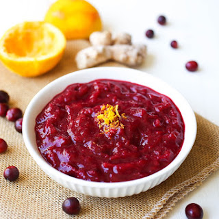 Paleo Ginger Spiced Cranberry Sauce
