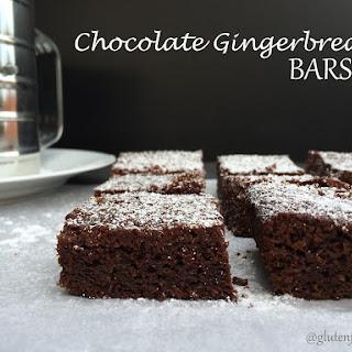 Gluten Free Chocolate Gingerbread Bars (11 Ingredients)