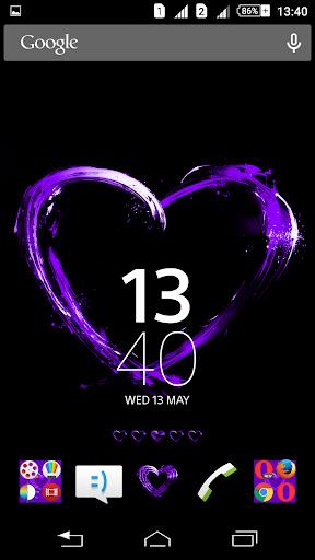 Purple Hearts Xperien Theme