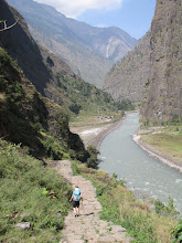 Photo: A wide part of the valley before the gorges.