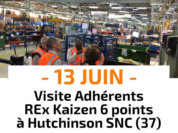 Visite process pour les Adhérents du Relais Lean Centre avec retours d'expériences sur les chantier Kaizen chez Hutchinson SNC à Tours