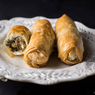 Phyllo Dough Meat Rolls.