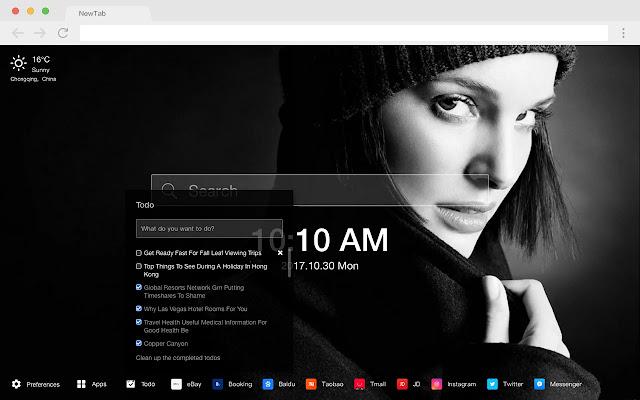 Natalie Portman New Tab Page HD Pop Theme