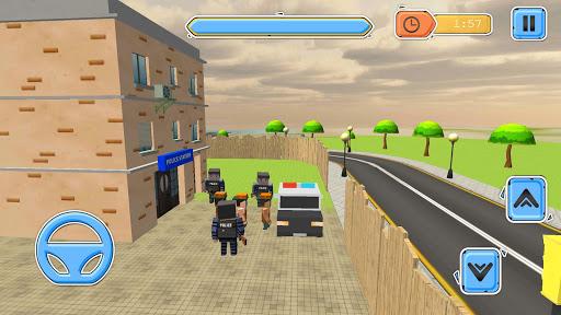 Blocky Vegas Crime Simulator:Prisoner Survival Bus image   9