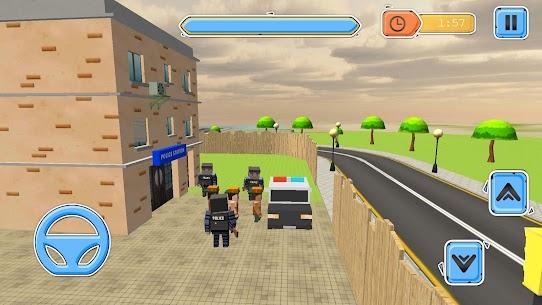 Blocky Vegas Crime Simulator:Prisoner Survival Bus 8