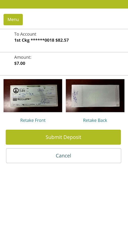 Umpqua Bank Mobile Banking- screenshot