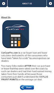 Car Loan & Lease Calculator- screenshot thumbnail