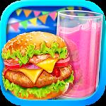 Summer Waterpark Food - Hamburger & Icy Juice Fun