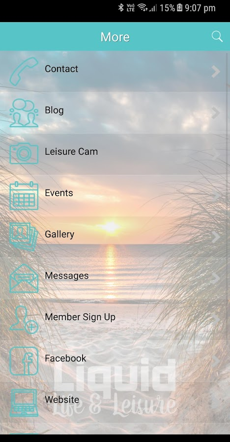 Liquid Life and Leisure App- screenshot