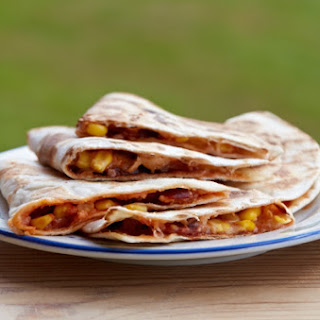 Sweet Corn, Pimento and Chorizo Quesadilla