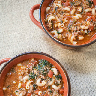 Beef, Tomato and Macaroni Soup Recipe