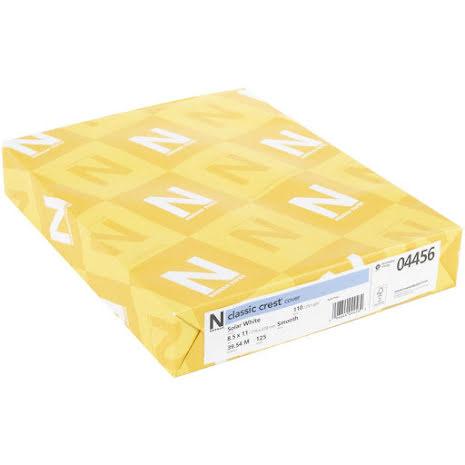 Neenah 110lb Classic Crest Cardstock 8.5X11 125/Pkg - Solar White