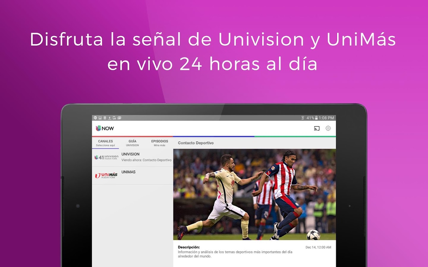 Univision NOW: TV en vivo- screenshot