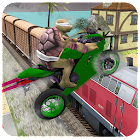 Super Hero Bike Highway Stunts icon