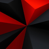 3D Black and Red