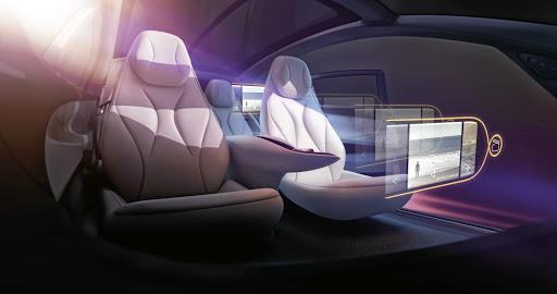 Each passenger will have their own virtual infotainment system. Picture: VOLKSWAGEN